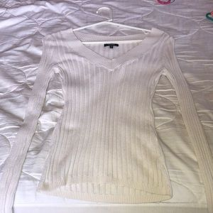 Cream/white Express Vneck sweater